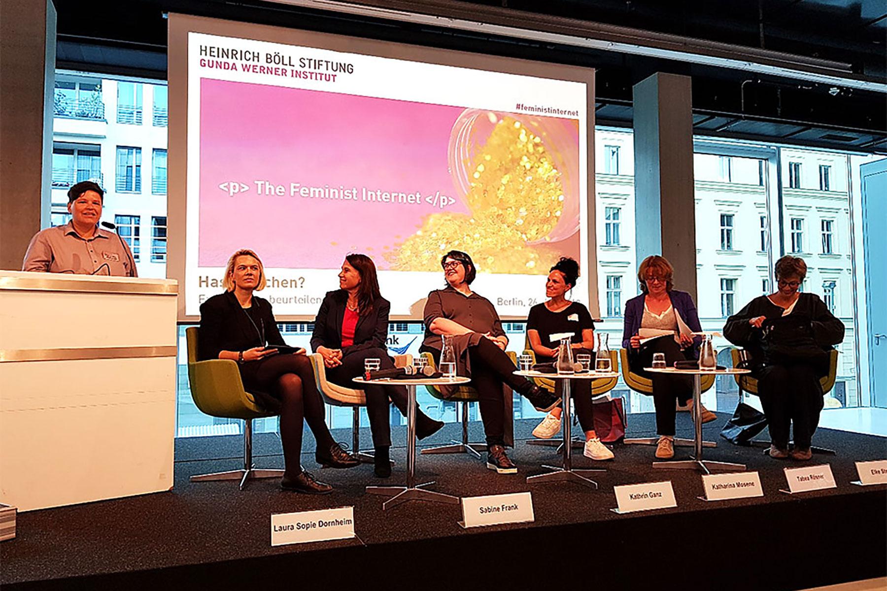 Building a feminist Internet: Feministische Netzpolitik in der Praxis. Veranstaltung des Gunda-Werner-Instituts © FCZB 2018