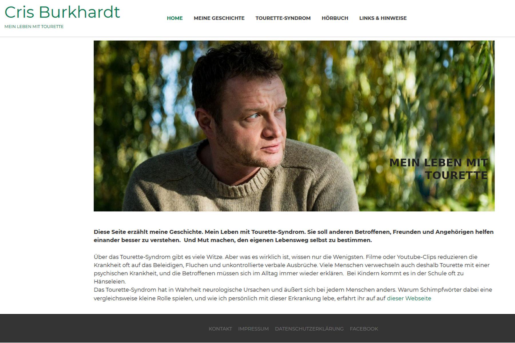Cris Burkhardt: Mein Leben mit Tourette. Praxisprojekt von Katrin Kalinkus in der CZB-Fortbildung Content- und Social-Media-Management