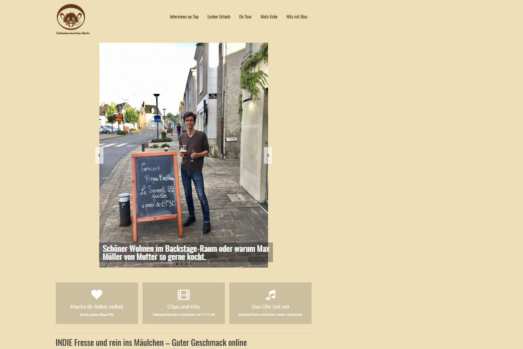 Schleckermäulchen Berlin. Praxisprojekt von Jasmin Lütz in der FCZB-Fortbildung Content- und Social-Media-Management