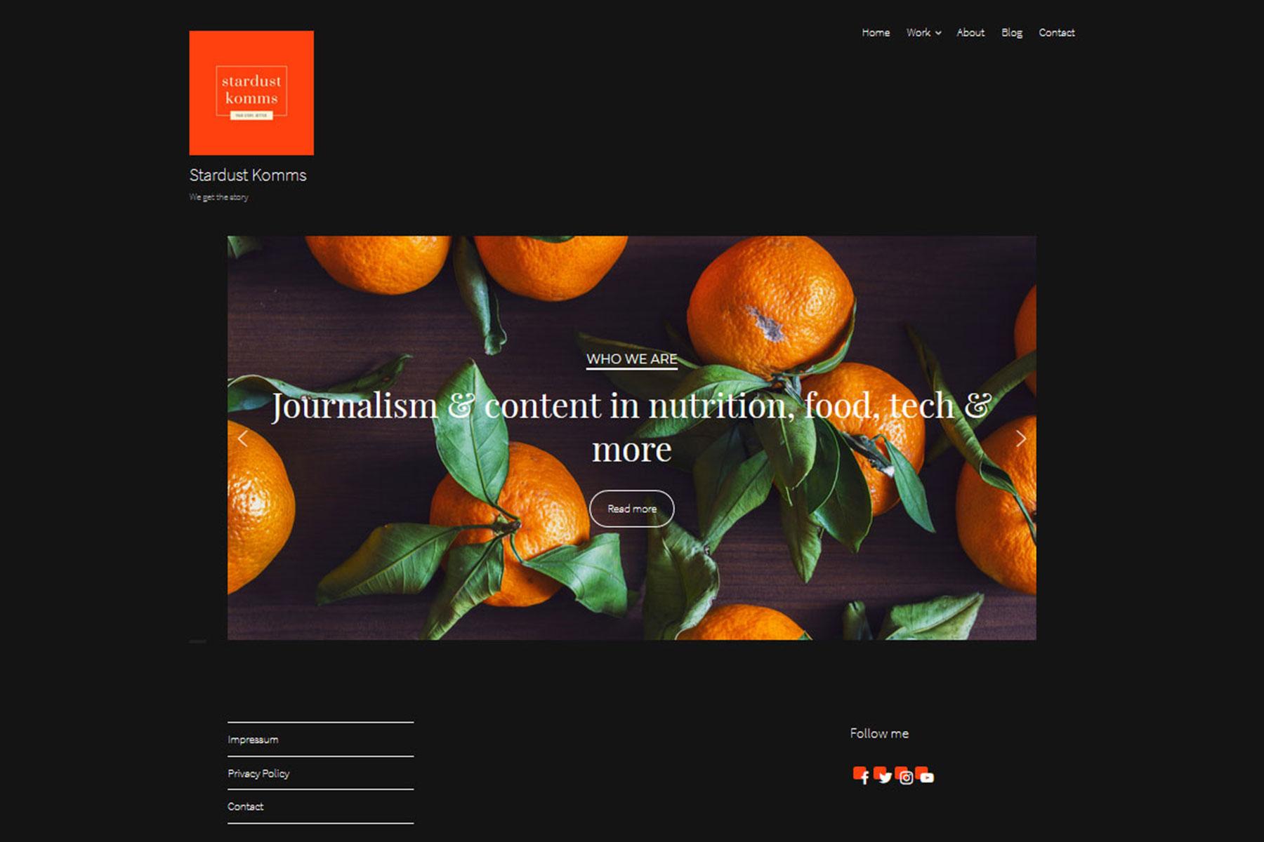 Stardust komms - we get the story . Praxisprojekt von Dena Hahn in der FCZB-Fortbildung Content- und Social-Media-Management