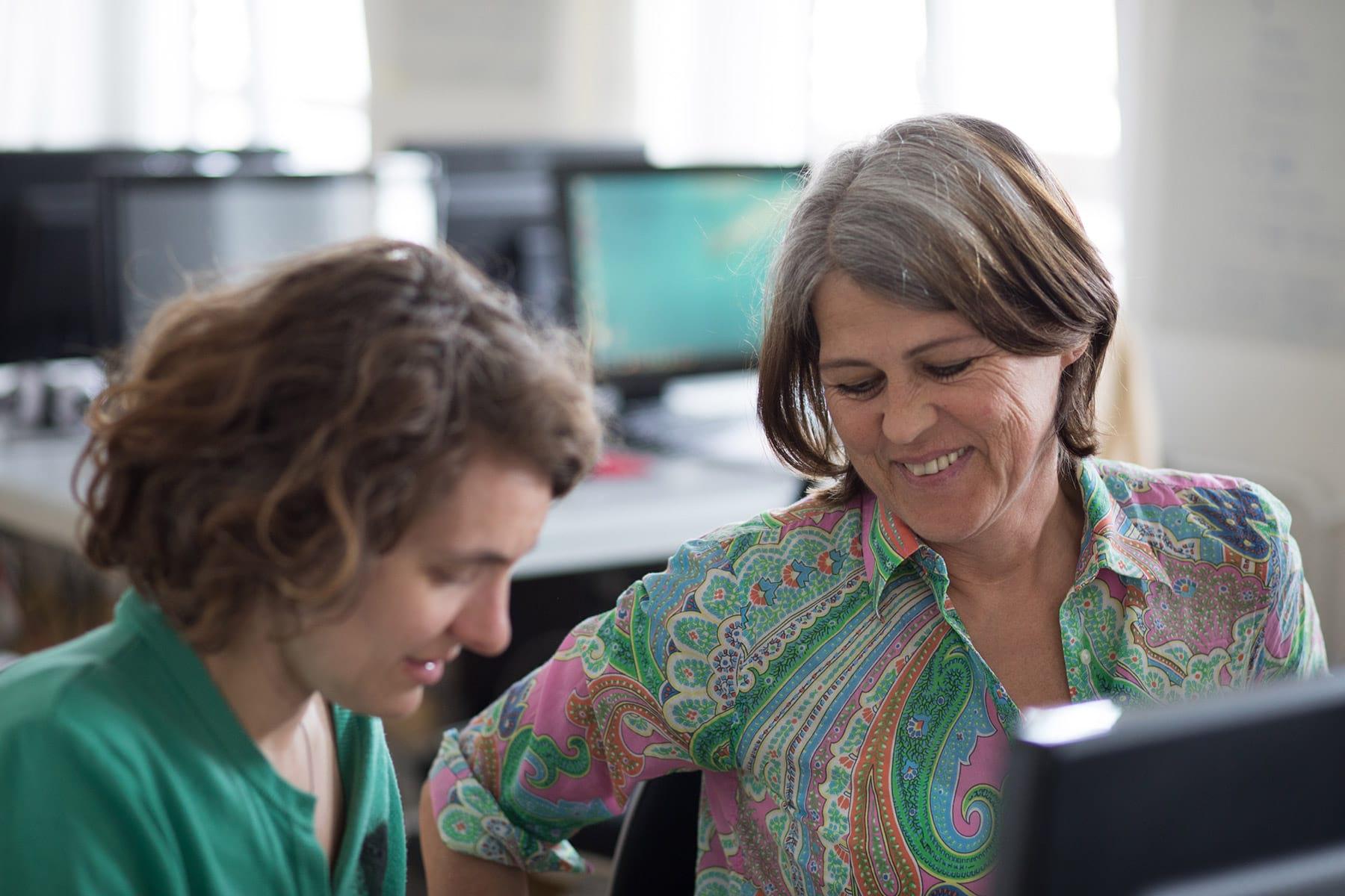Fortbildungsteilnehmerin IT-Know-how für den Wiedereinstieg
