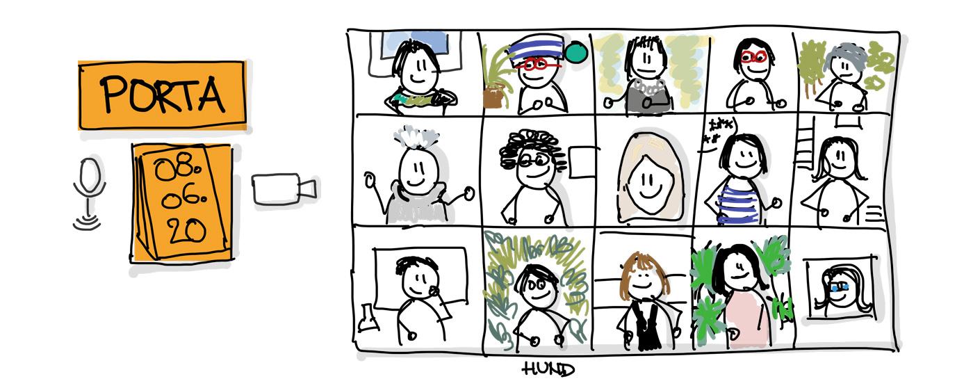 Auch Onlinelernen macht Spaß. Porta: Bürokommunikation mit Sketchnotes (c) K. Schwahlen 2020
