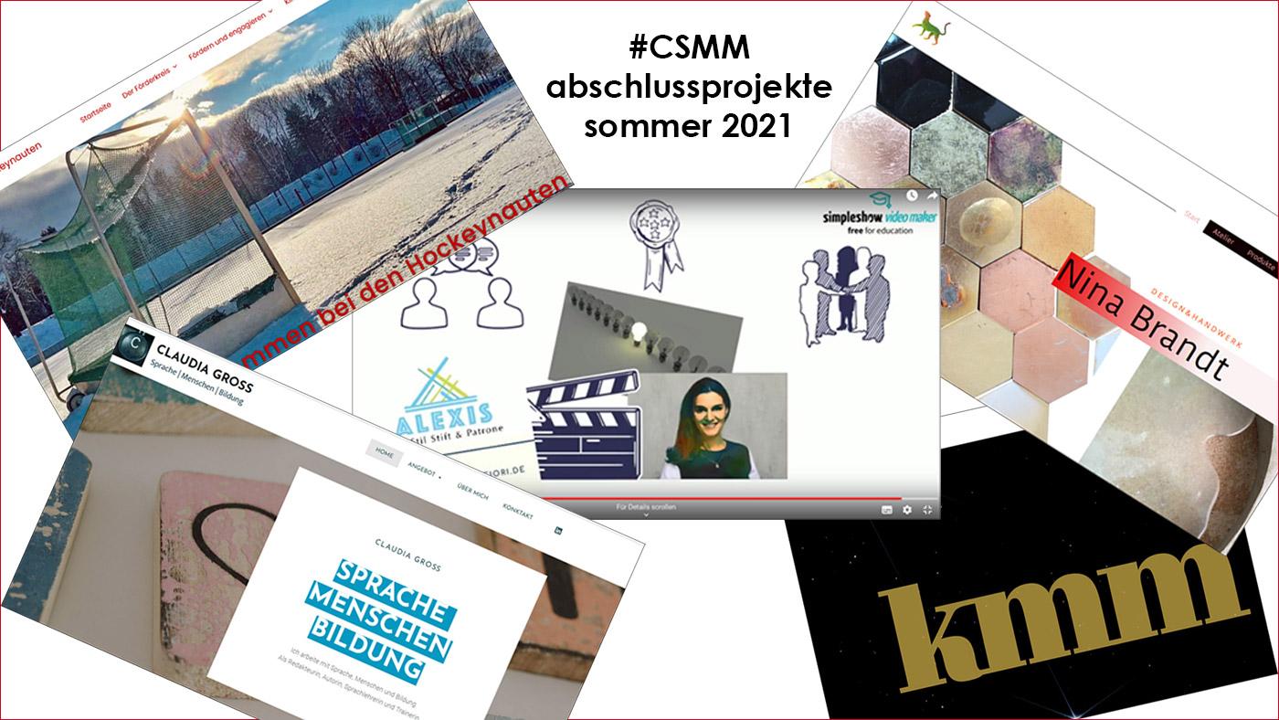 #CSMM-Abschlussprojekte 2021 - Content- und Social-Media-Management