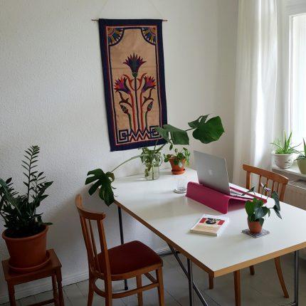 Arbeiten allein zu Haus: Amina Rayan, Mitarbeiterin im Projekt MIKADO ©privat