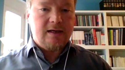 Volker Grigo/thyssenkrupp bei der Konferenz LABOR.A 2020 – die Arbeit der Zukunft (Screenshot)