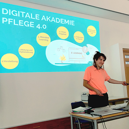 Digitale Akademie Pflege 4.0 (DAPF) – digitale Lehr- und Lernszenarien für die neue generalistische Pflegeausbildung ©FCZB 2020