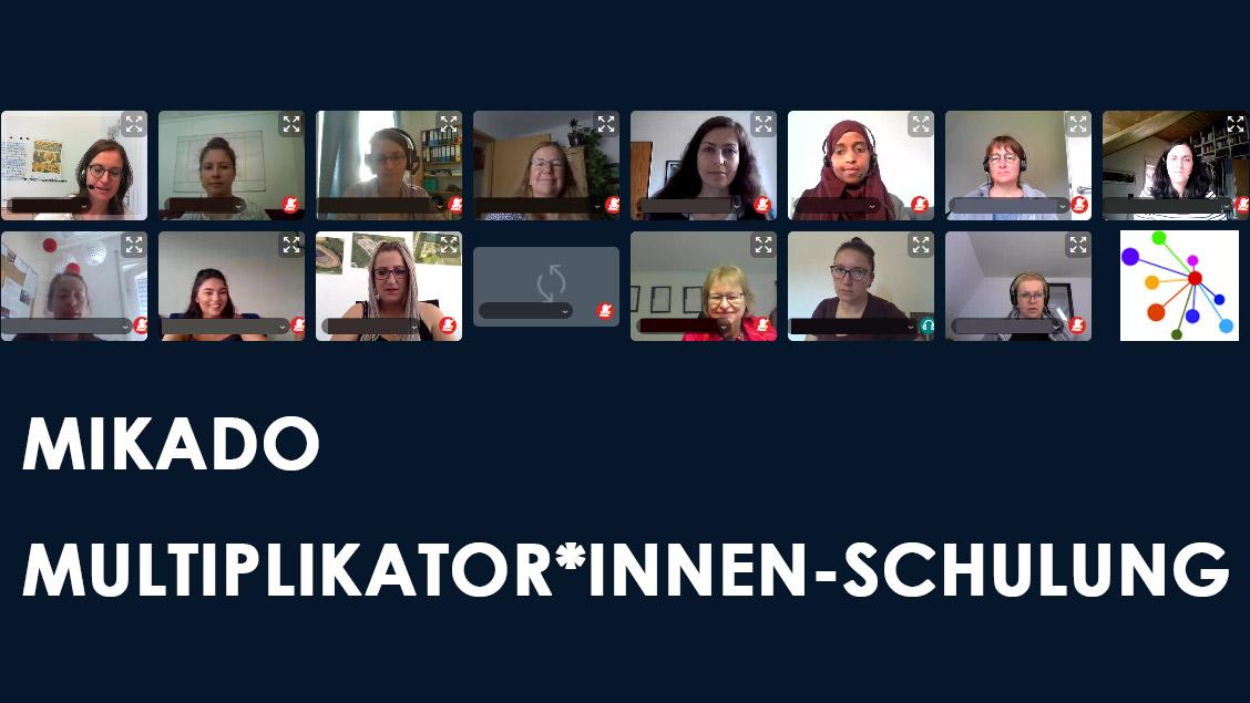 MIKADO-Multiplikator*innen-Schulung startet mit Online-Blockwoche