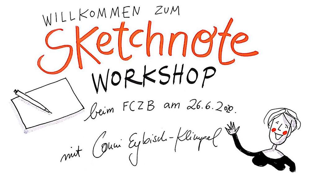 willkommen zum Sketchnotes-Porta-Workshop ©Conni Eybisch-Klimpel