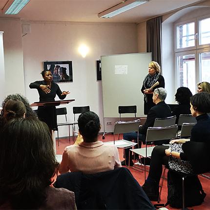 Fachtagung Digital Empowerment FCZB I. Chienku, Foto: Kerstin Dankwerth