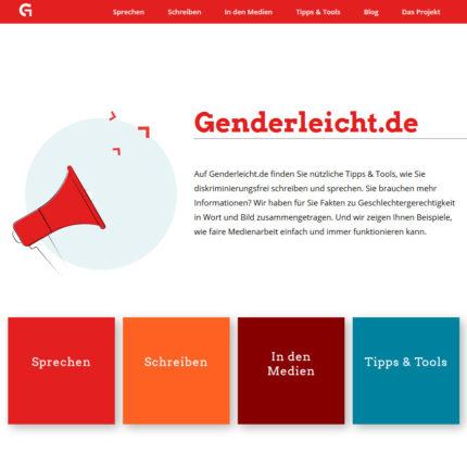 genderleicht.de ist ein Projekt für diskriminierungsfreie Sprache, vorgestellt von Christine Olderdissen in ihrer Session beim FCZB-Barcamp #FrauenProjekteDigital